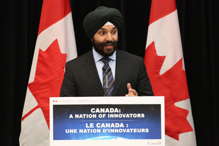The Honourable Navdeep Bains, Minister of Innovation, Science and Economic Development
